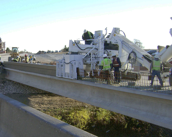 Concrete Slipform Parapet Wall Paver