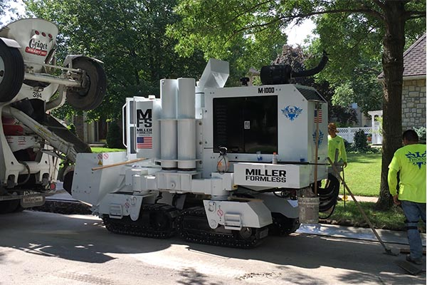 M-1000 Concrete Curb Paver