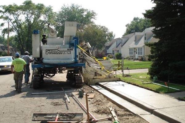M-8100 Slipform Paver Concrete Sidewalk Paver