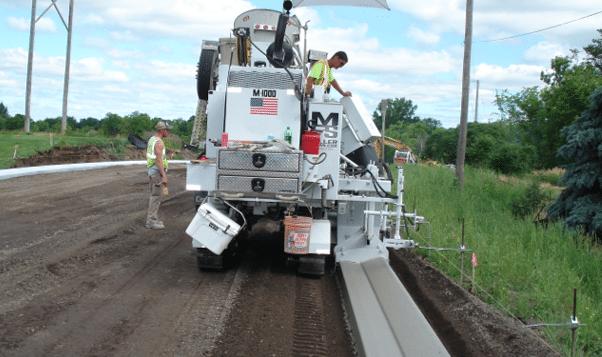 M-1000 Concrete Curb Paving Machine