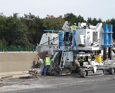 Barrier Wall Paving Machines