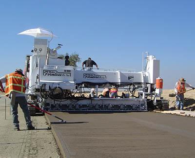 Slipform Paving Machines, Slipform Concrete Paving